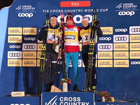 05e3b9b0fcb Носителят на Световната купа за миналия сезон и олимпийски шампион в  дисциплината от Пьончан 2018 Йоханес Клаебо от Норвегия беше лидер в  състезанието и ...